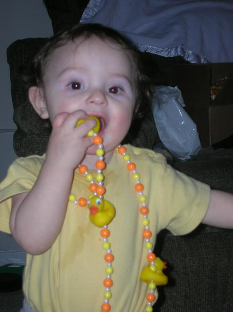 Yummy ducky necklace!